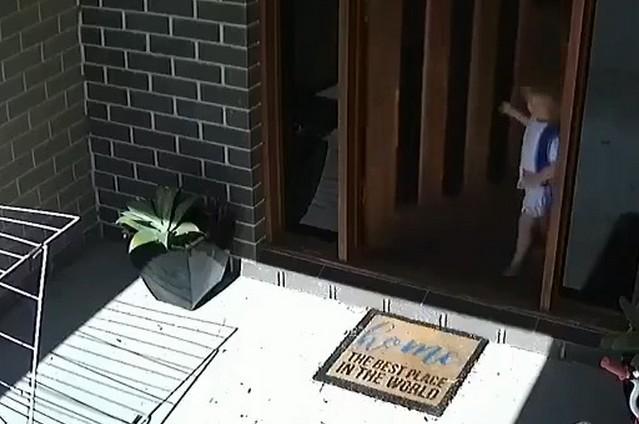 Вход в австралийский дом