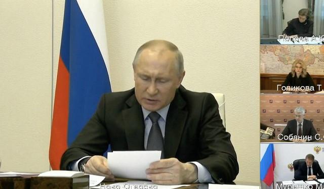 Владимир Путин на совещании по коронавирусу