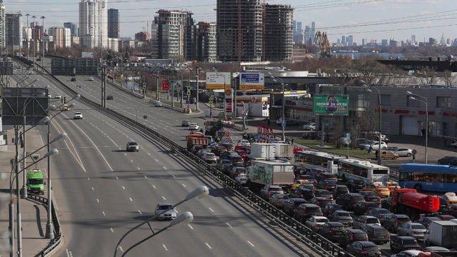 Пробки на Ленинградском шоссе