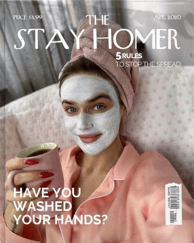 Алена Водонаева в маске для лица
