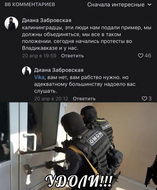К жительнице Калининграда пришли домой из Центра «Э» и потребовали удалить комментарий