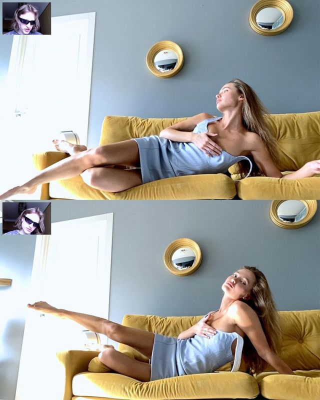 Александра Маркина в вэб-кам фотосессии