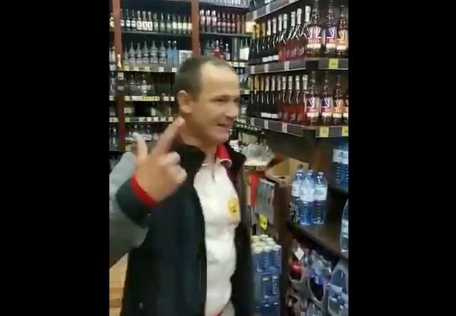 Хулиган в магазине