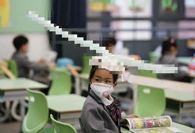 Китайская школьница