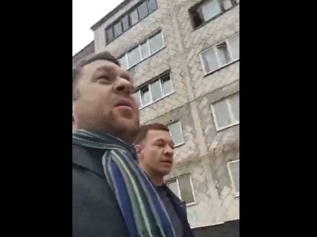 Владимир Бендус напал на журналиста Антона Пантина