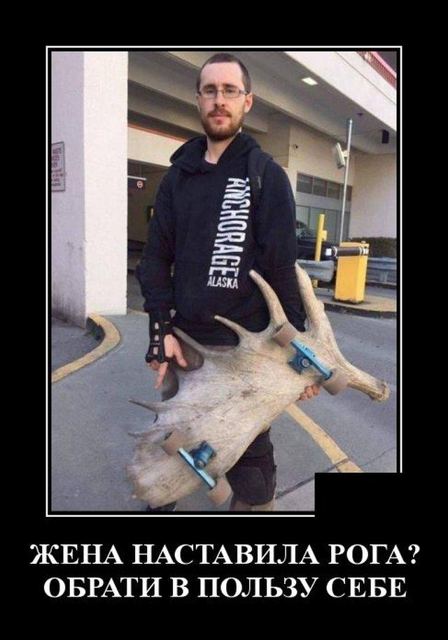 Демотиватор про рога