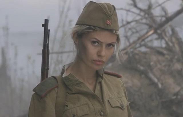 Виктория Боня в военной форме