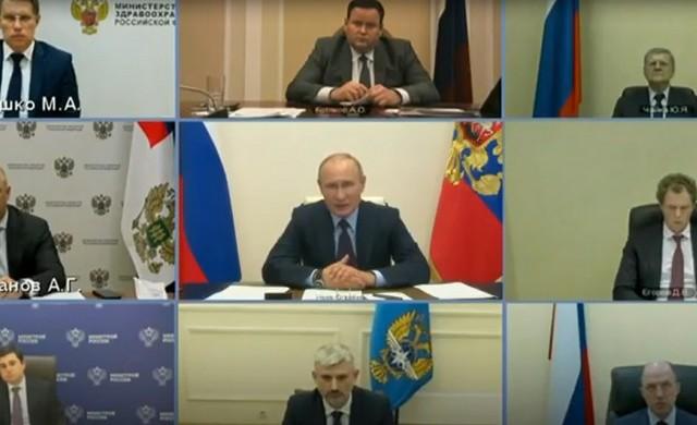 Владимир Путин по видеосвязи