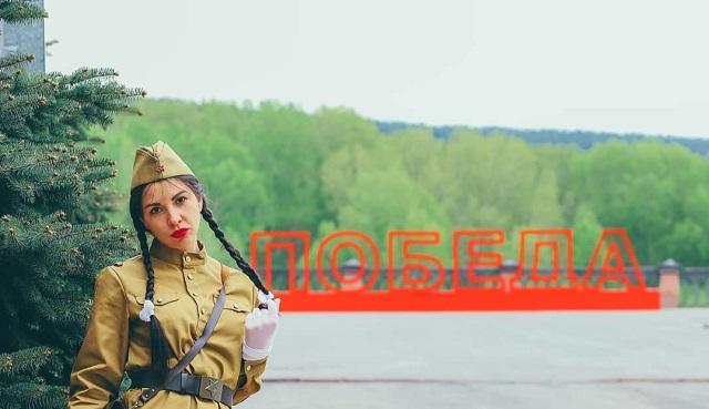 Екатерина Печерская в военной форме