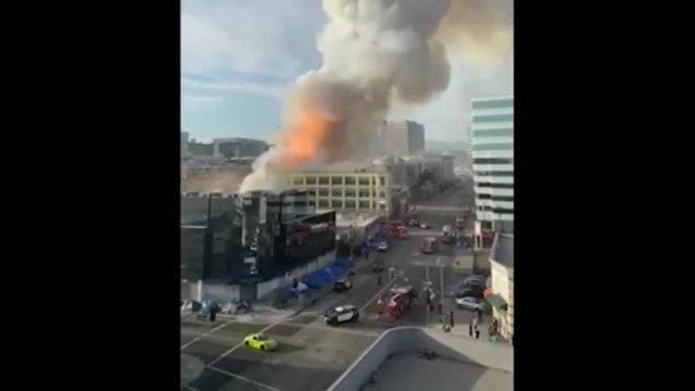 В Лос-Анджелесе произошел сильный пожар