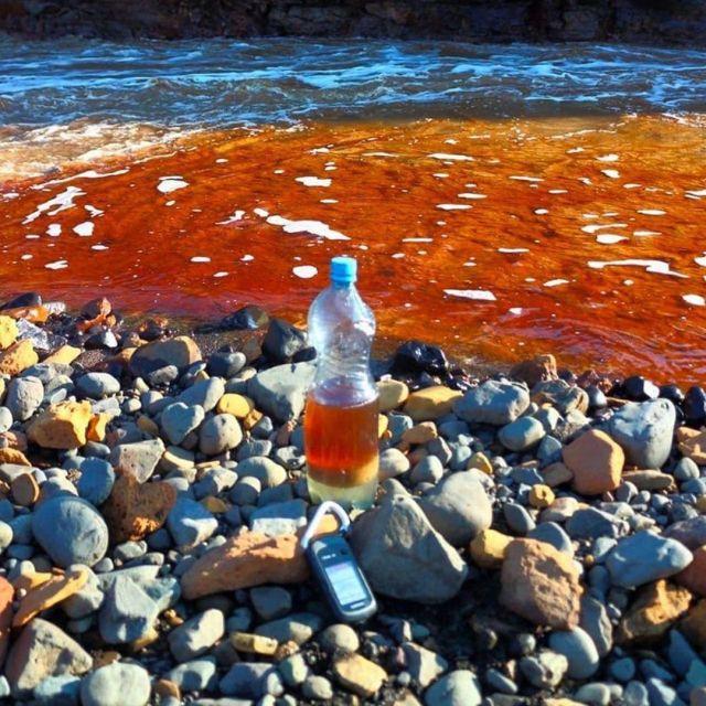 Топливо в реке