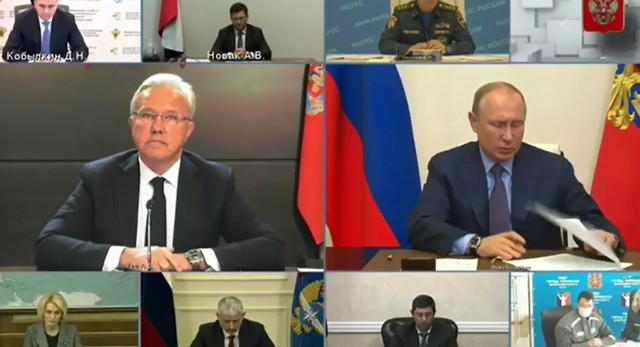 Владимир Путин Александру Уссу о ситуации в Норильске: «Че доклад-то и закончил, а че делать-то, вы же губернатор?