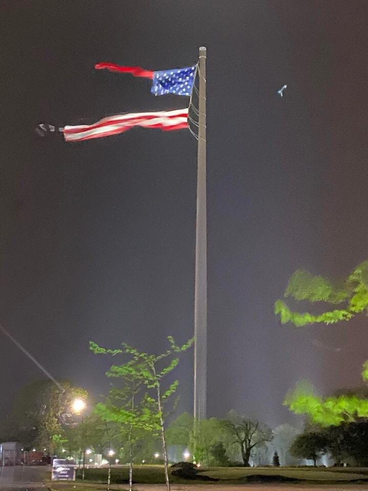 Молния в США