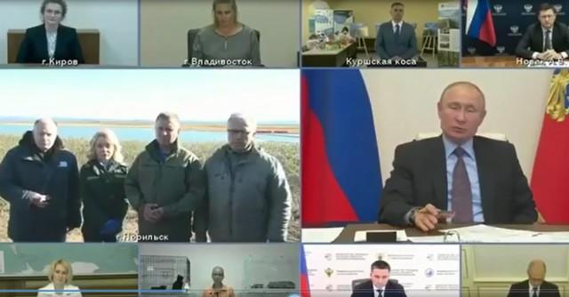 Владимир Путин проводит совещание по экологии