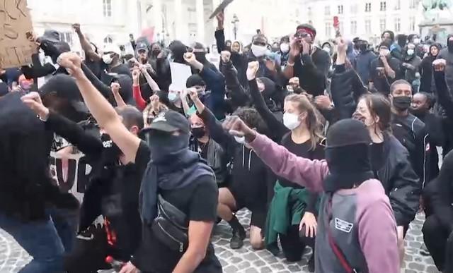 Протестующие в Брюсселе