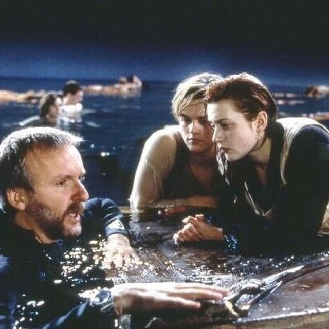 """Архивные кадры съемок фильма """"Титаник"""" с Леонадро Ди Каприо и Кейт Уинслет (13 фото)"""
