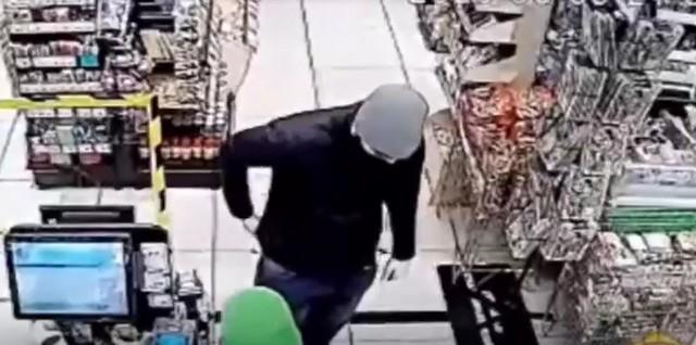 """Грабитель в магазине """"Вкусвилл"""""""