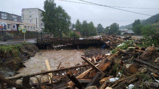 Последствия ливня в городе город Нижние Серги