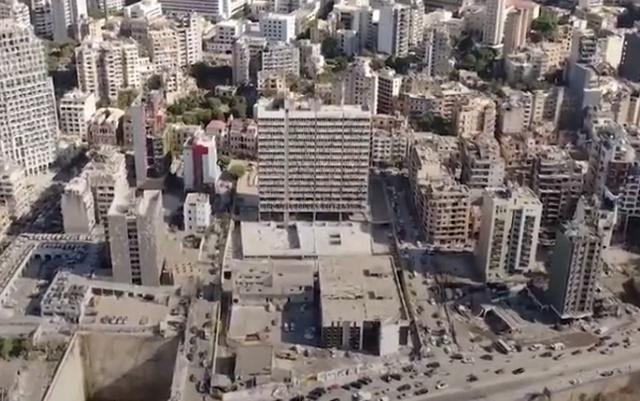 Бейрут после трагедии. Вид с высоты птичьего полета
