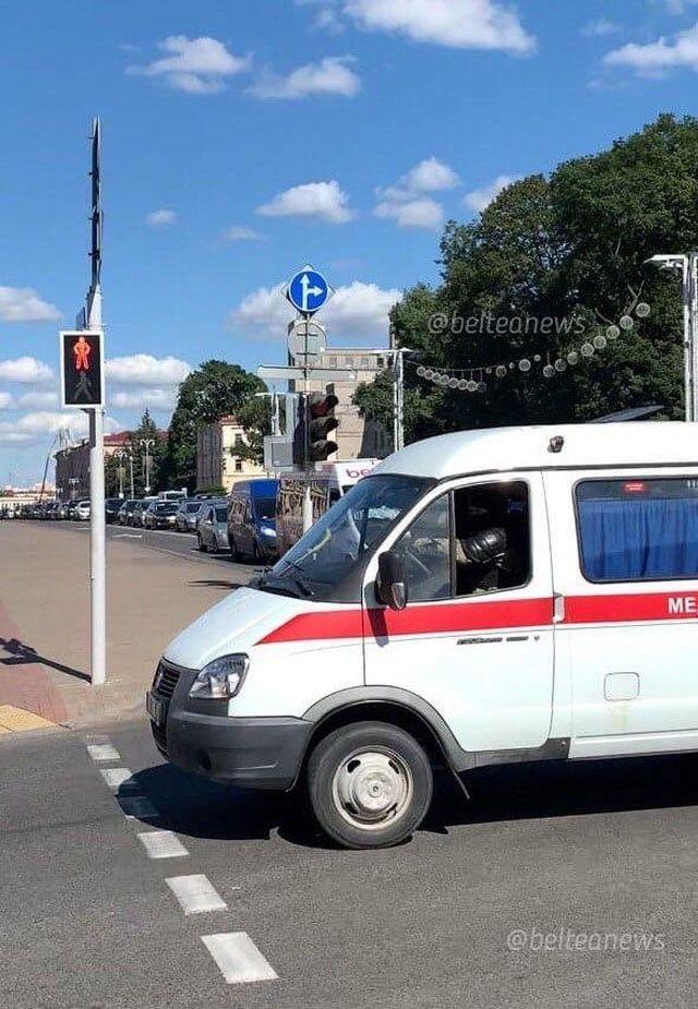 В Минске силовики ездят в машинах скорой помощи