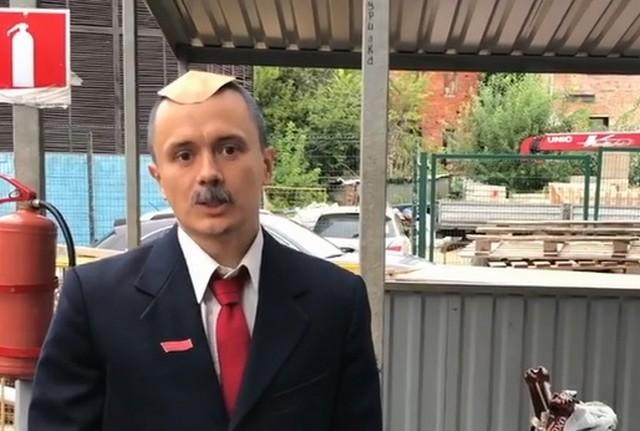 Илья Соболев в образе Лукашенко