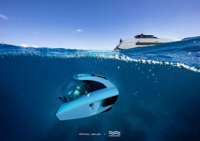 Подлодка под водой