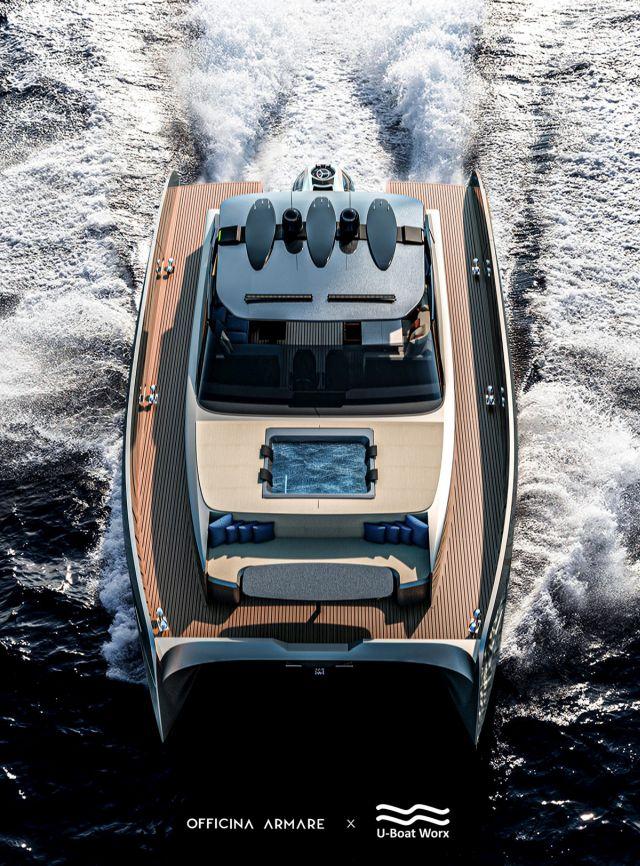Яхта вид сверху