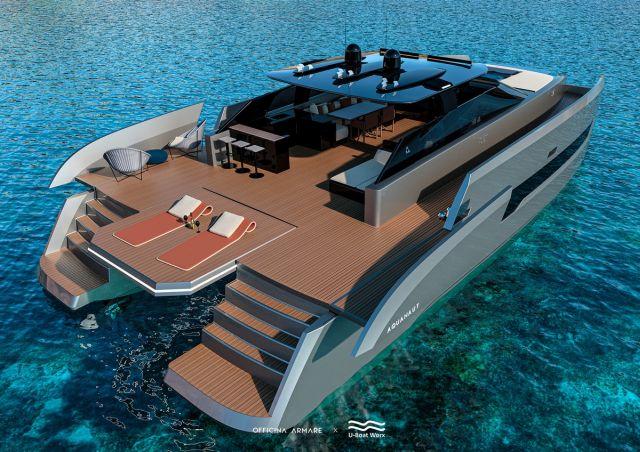 Зона для солнечных ван на яхте