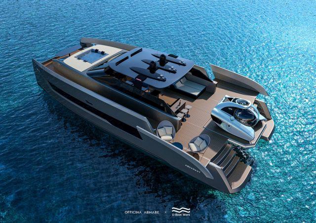 Яхта вид с верхнего левого угла