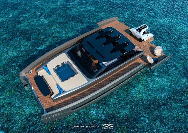 Яхта вид с верхнего правого угла