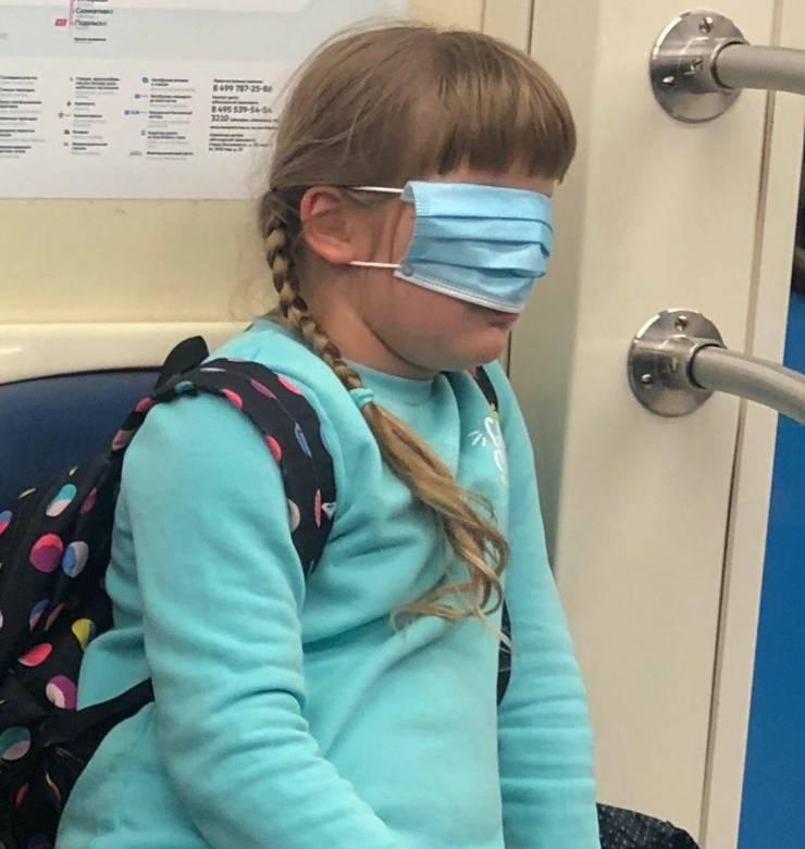 Защитная маска на глазах