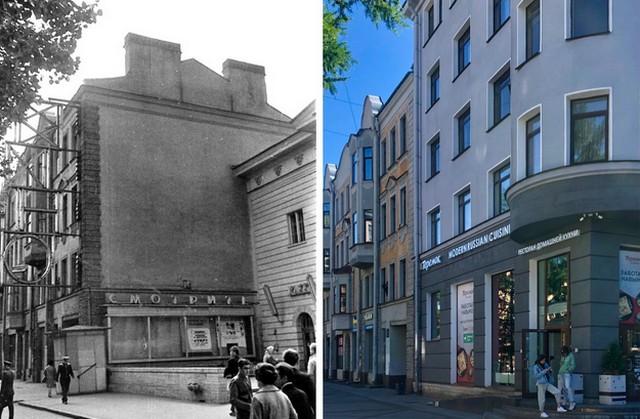Сравнение старого и нового Петербурга (14 фото)