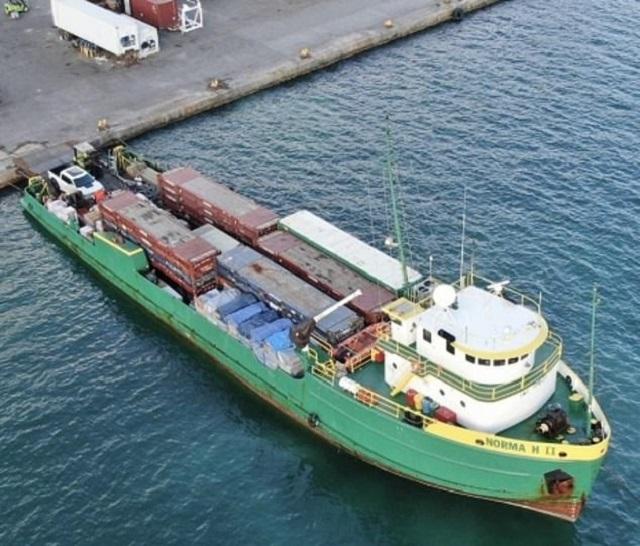 Судно в порту Сан Хуан