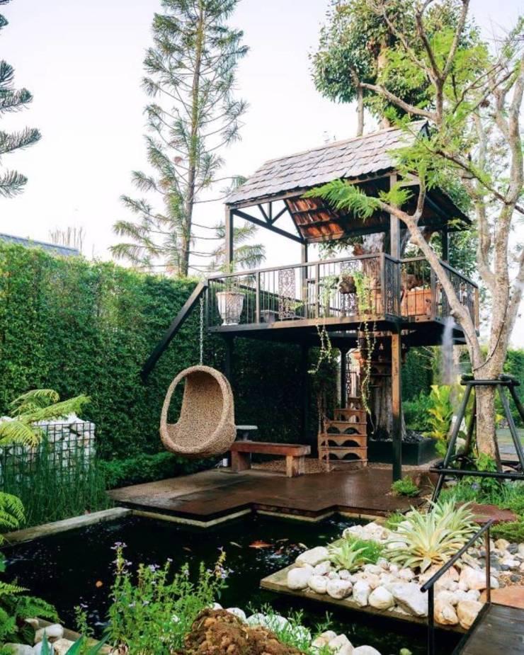 Уютный задний дворик