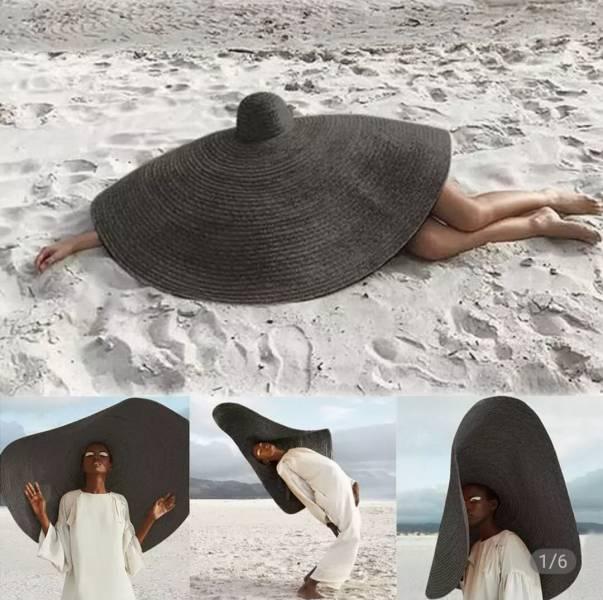 Огромная женская шляпа