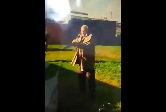 Пенсионер с ружьем