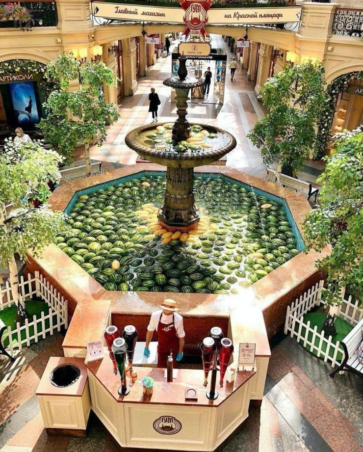 Арбузы в фонтане