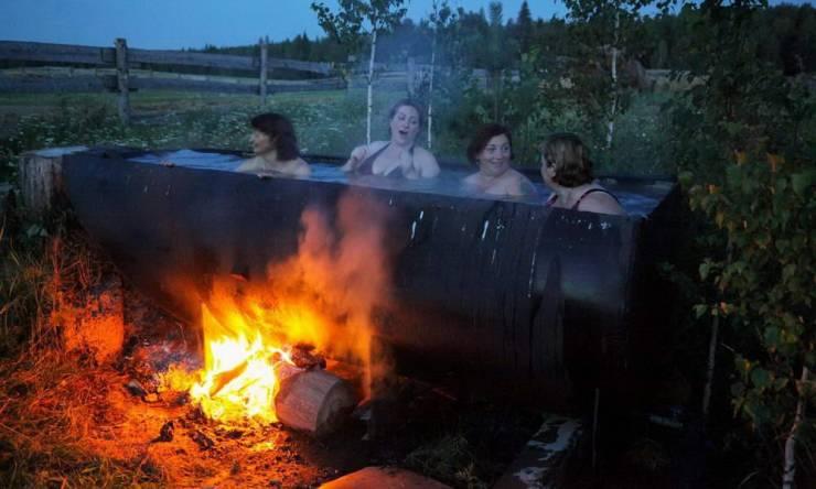 Сельская ванна с подогревом