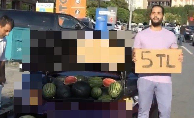 Водитель продавал арбузы из Ламборгини