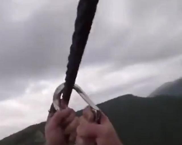 трос над пропастью