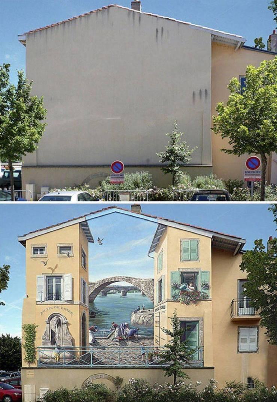 Стрит-арт на здании