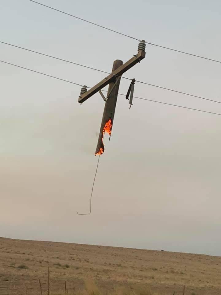 Сгоревший столб