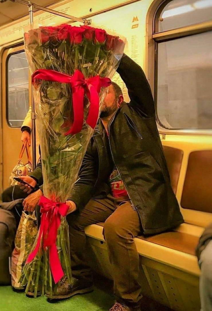 Букет огромных роз