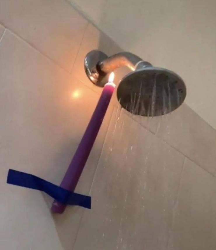 Нагреватель воды из свечки