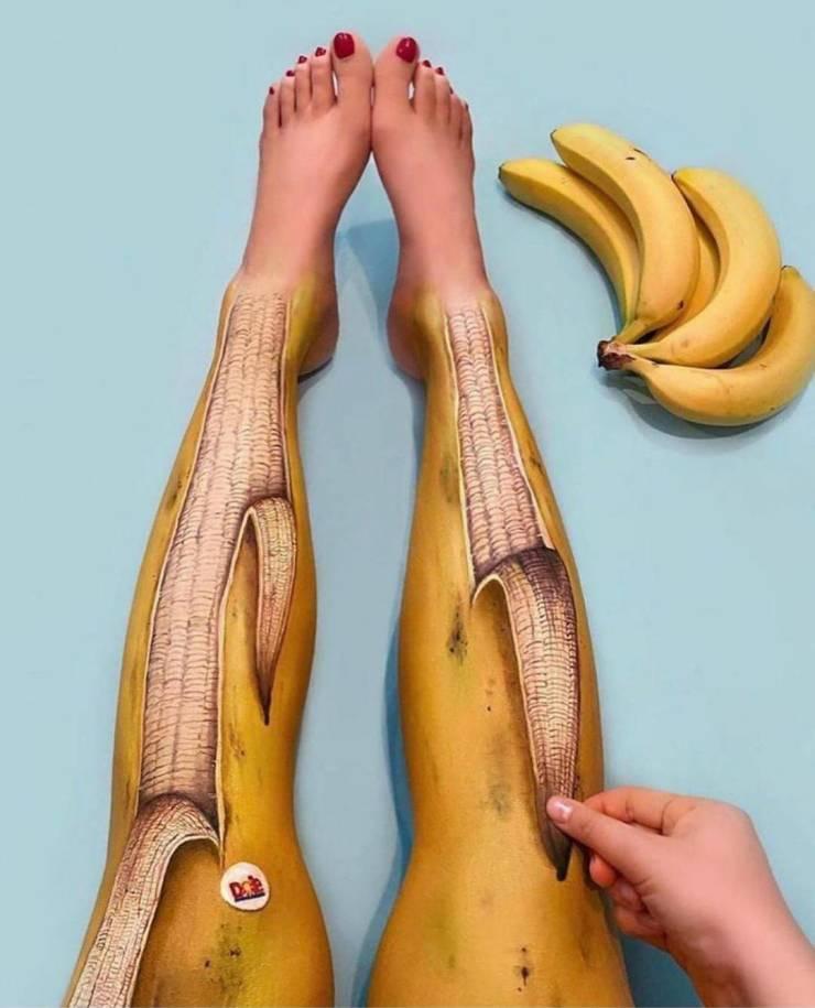 Креативный арт на теле