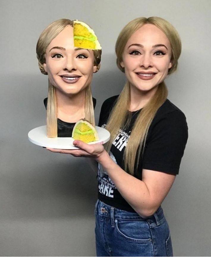 Голова из торта