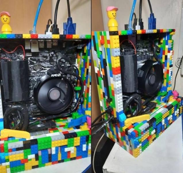 Компьютер в корпусе LEGO
