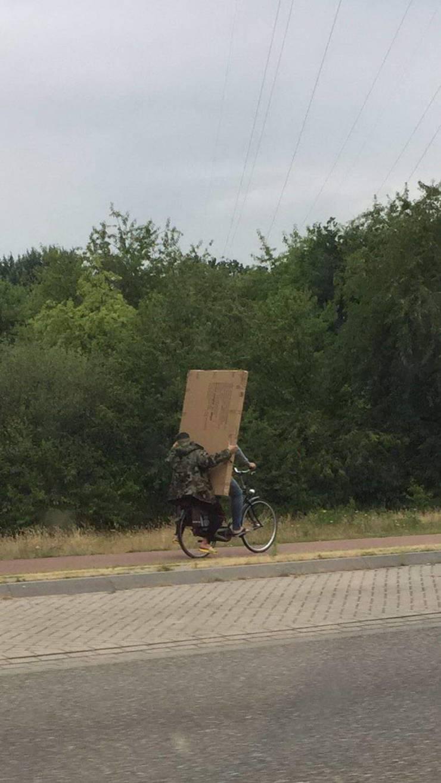 Перевозка груза на велосипеде