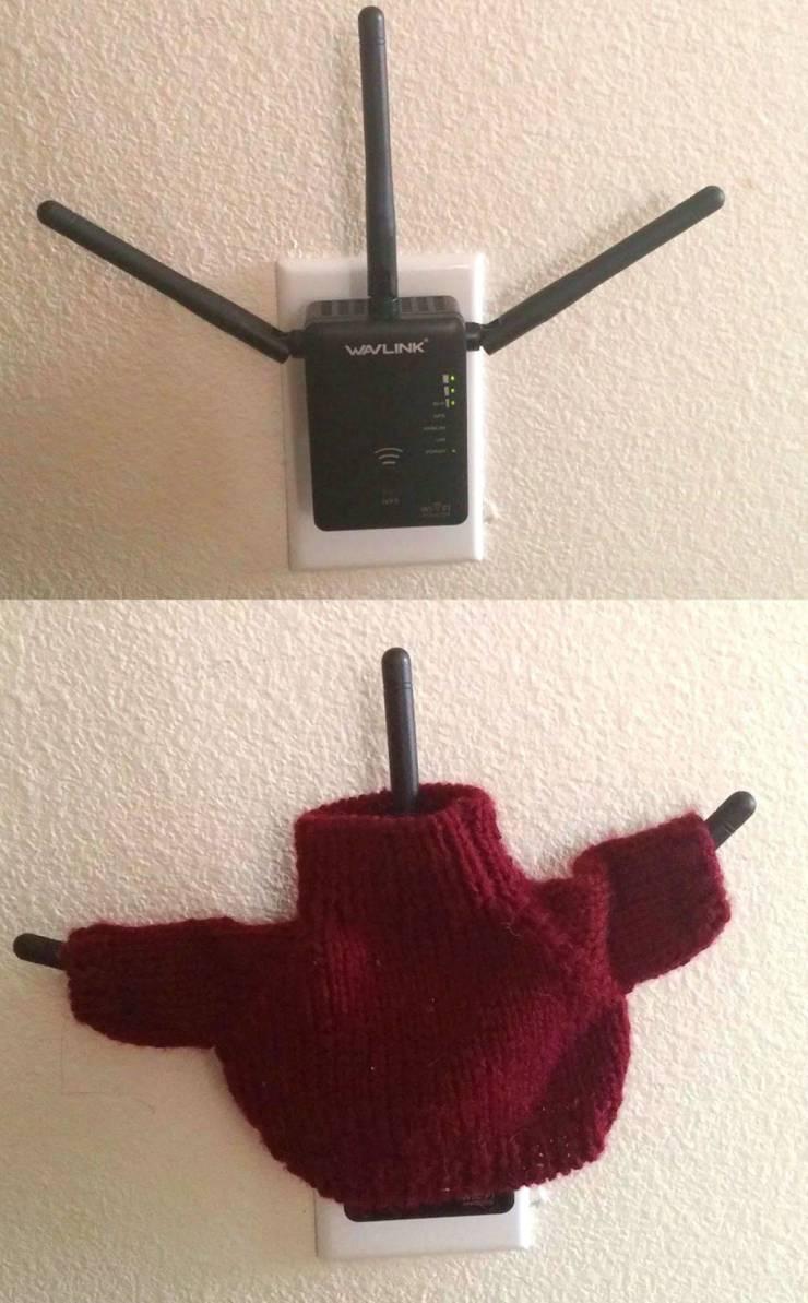 Роутер в свитере