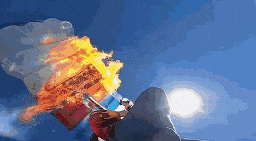 Сгоревший парашют